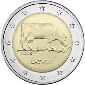 "Latvia 2 euro 2016 CoinCard /""Cow/"" BiMetallic BU"