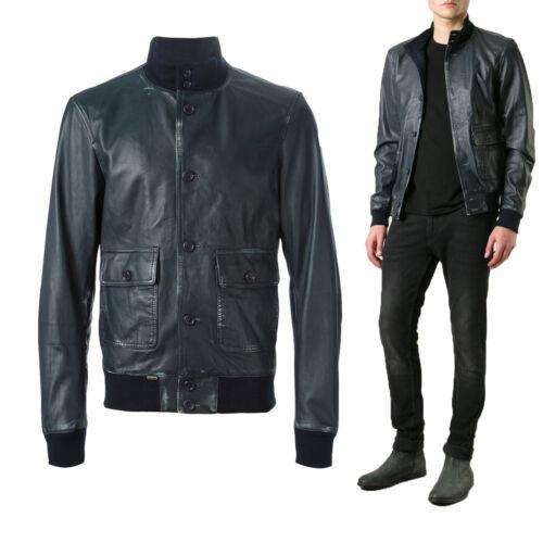 ★Giacca Giubbotto Uomo in di PELLE 100% Men Leather Jacket Veste Homme Cuir Y23