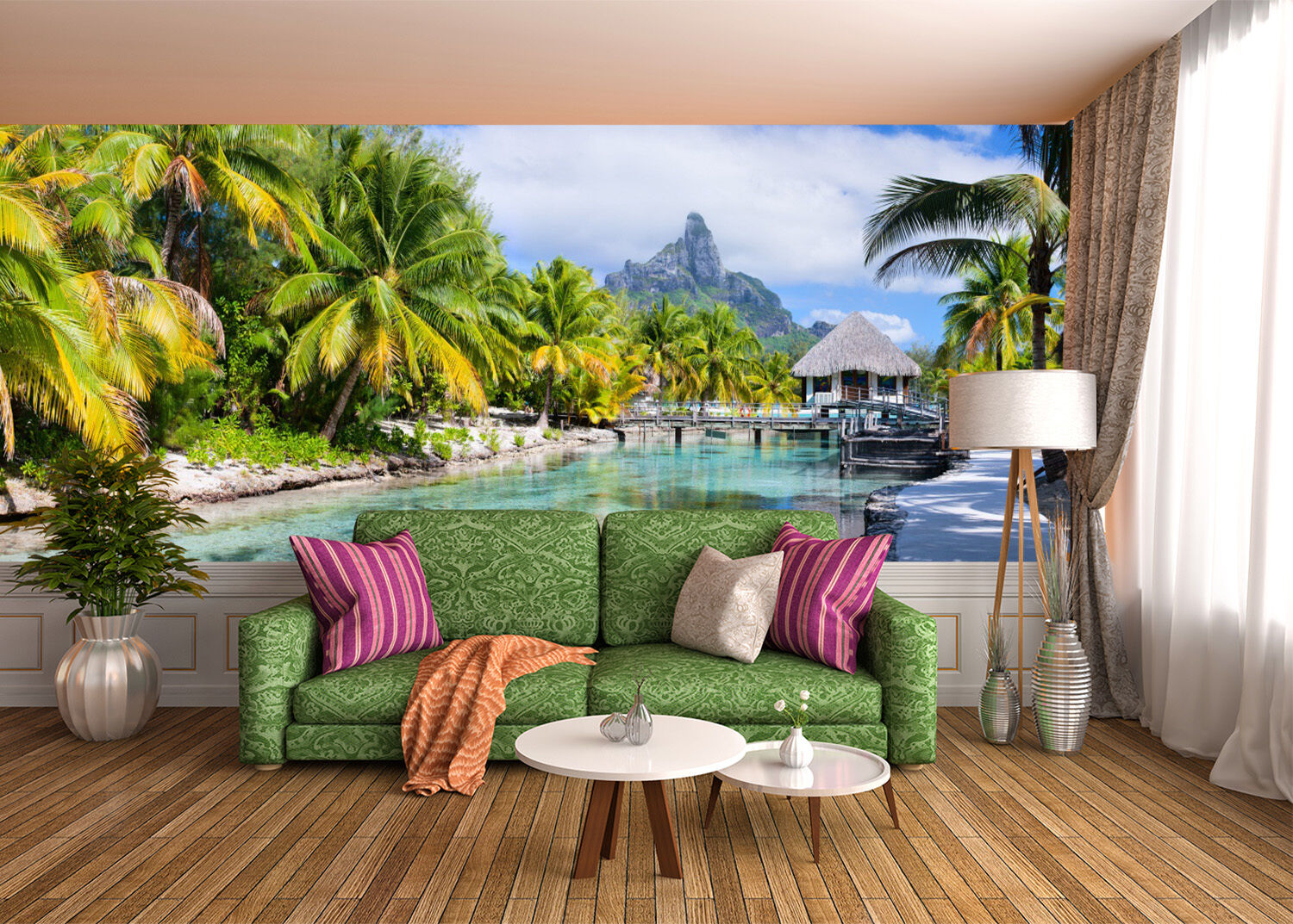3D Riverside Trees 13 Wall Paper Wall Print Decal Wall Deco Indoor AJ Wall Paper