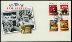 2018-Vintage-Jam-Labels-Self-Adhesive-FDC-Stamps-Australia-Post