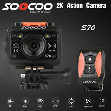 SOOCOO S70 2K 16M WiFi 60M Waterproof Sport Action Video Camera W/Remote Control