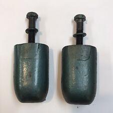 Vintage Quincy Air Compressor Motor Bracket Tank Hold Down Pair