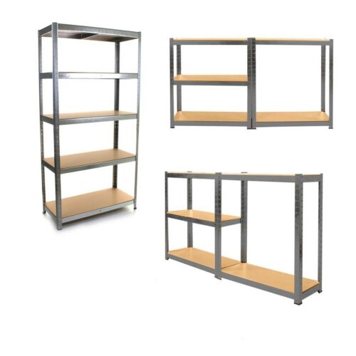 5 Tier Racking Extra Deep Garage Shed Storage Shelving Shelves 875KG Capacity UK