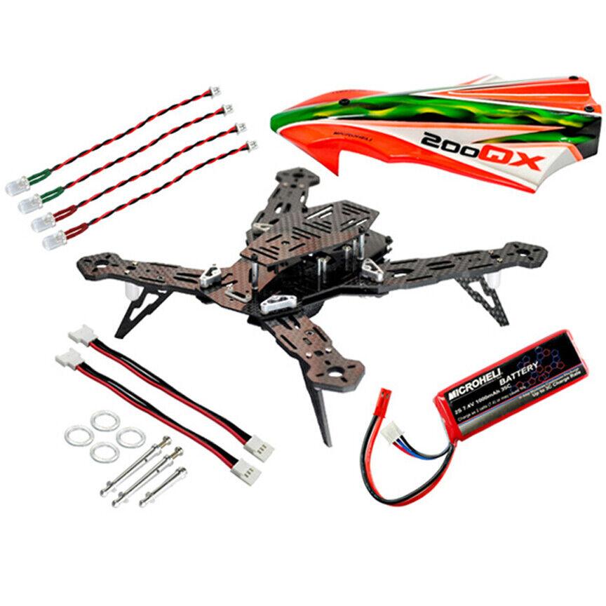 nuovo Microheli CNC AL autobon Fiber Racing Quadcopter Kit 200  QX gratuito US SHIP  acquisto limitato