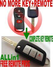 ALin1 FLIP KEY REMOTE KEYLESS ENTRY CHIP CLICKER TRANSPONDER FOR INFINITI 3BS2