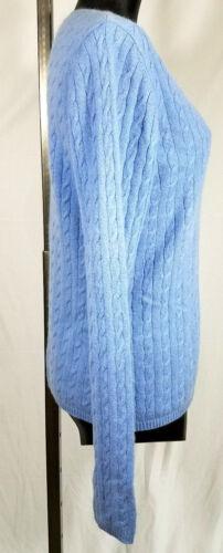 Femmes en torsadée S S Bleu Col Kirkland pour cachemire Pull 100 V en Signature maille Zq818