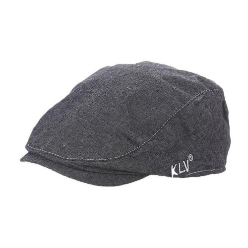 Unisex Mens Flat Cap Beret Newsboy Hat Solid Colour Forward Painter Caps FI