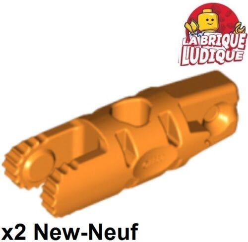 2x Charnière hinge cylinder 1x3 locking 2 bras orange 30554b 21309 NEUF Lego