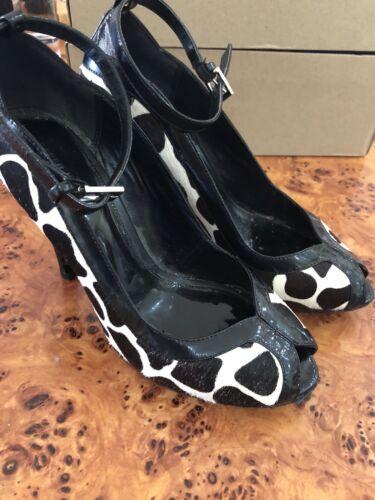 Millen caviglia 39 alla vernice Eu e Taglia di Karen cinturino Pelle 6 Courts vacchetta Designer nera qfxEZHZPw