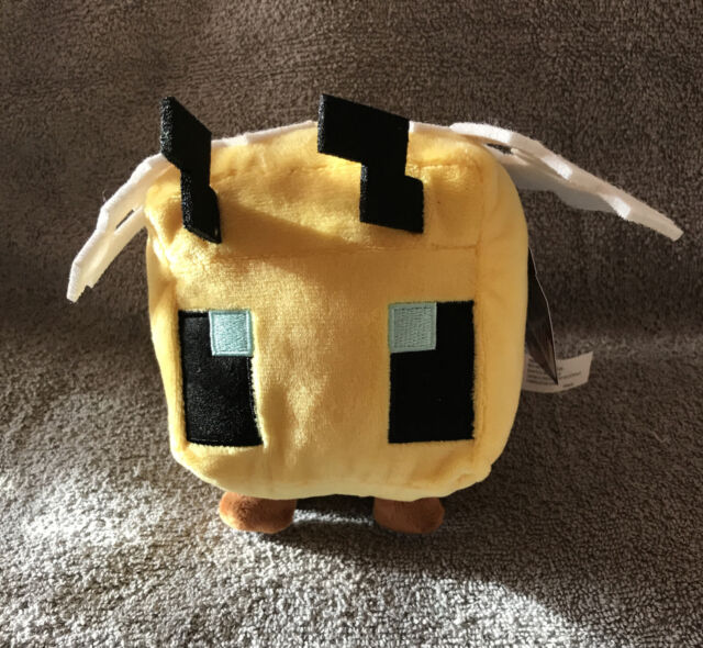 Minecraft Bee Plush Stuffed Toy 2020 Mattel Mojang  New with Tags Lovey Soft Toy