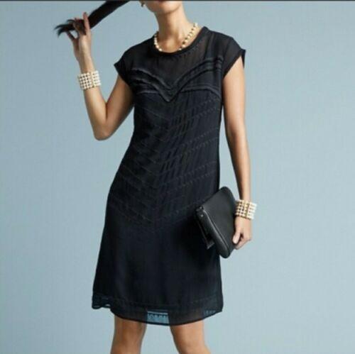 Cabi Dress Up Sheer Black Dress