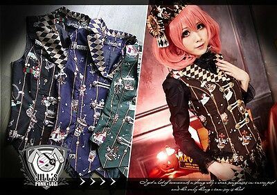 Lolita goth russian aristrocrat Golden Ferris wheel wonderland suit waistcoat BR
