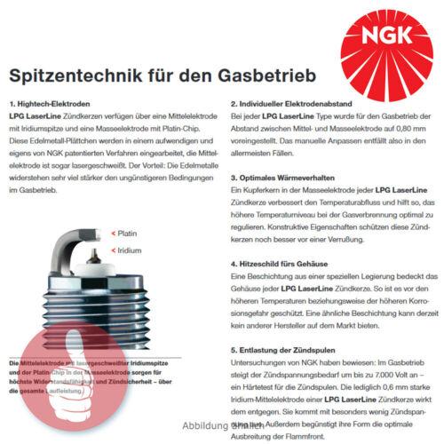 6 x Original NGK Zündkerzen LPG Laserline 07 für Fahrzeuge mit Autogas 1640