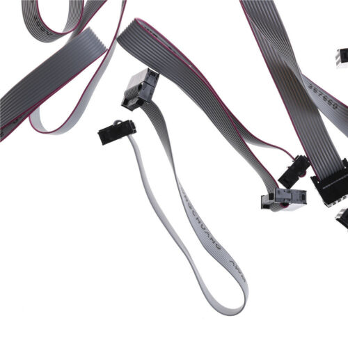 10pin 2.54mm Cable plano de la Plana de IDC Cable Para Atmel AVR ISP JTAG Descarga DS 10 un