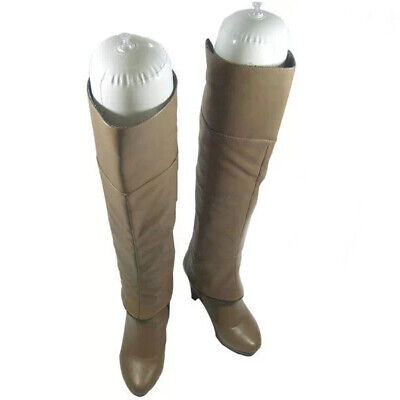 2 Pairs White 50cm Inflatable Women Boot Shoes Stand Support Holder Shaper