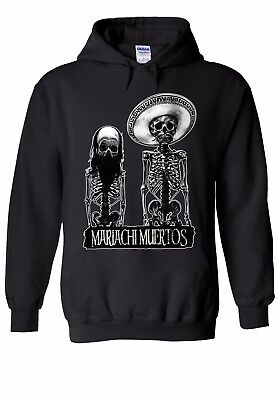Mutig Mariachi Skull Mexican Halloween Men Women Unisex Top Hoodie Sweatshirt 2033