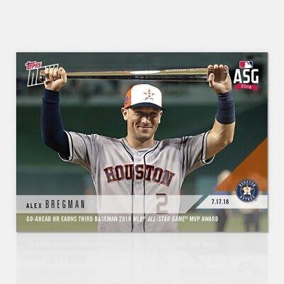 new style 63a58 996d5 2018 TOPPS NOW #474 ALEX BREGMAN GO-AHEAD HR EARNS 2018 MLB ALL-STAR GAME  MVP | eBay