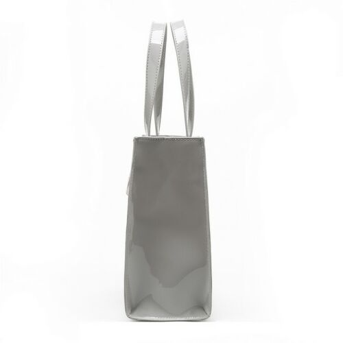 Bolso gris shopper patente o colores peque Tote de Negro varios floral pSx4wpqB