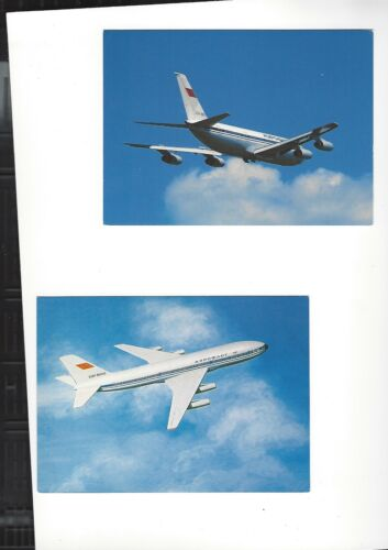 Aeroflot Airlines issued IL86 contl lot of 2 postcards