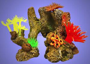 Aquarium Deko Kleine Korallen Auf Fels Stein Terrarium Dekoration Zubehor Ebay