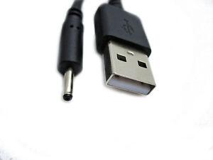 2m Usb Noir Chargeur Câble D'alimentation Pour Zenithink Zt Zwatch Touch Mobile Zt Et-1-afficher Le Titre D'origine