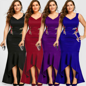 Plus Size Women S Evening Dress Embroidery Party Mermaid Engagement