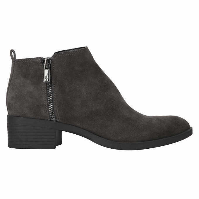 Kenneth Cole New York Ladies' Suede Ankle Booties Grey Size 10
