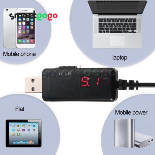 USB Boost dc 5V Step Up to 9V 12V dc Voltage Converter Stepup power LED BSG