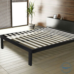 image is loading sleeplace metal bed frame with wood slat corner - Sturdy Bed Frames