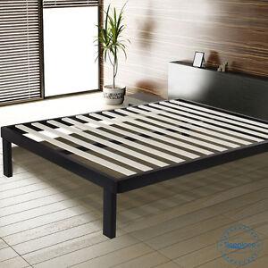 image is loading sleeplace metal bed frame with wood slat corner