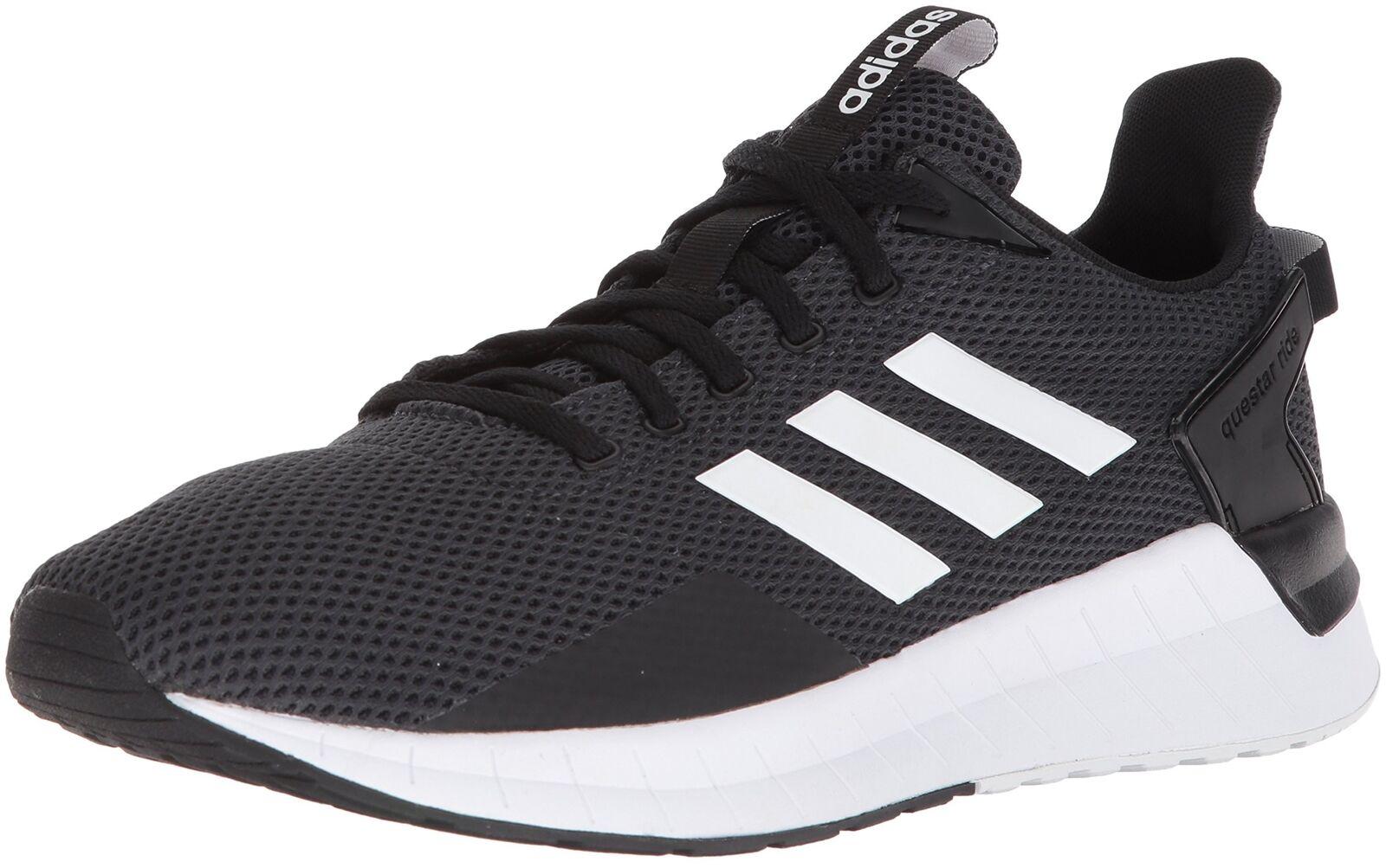 Adidas uomini questar passaggio scarpa da corsa nero / / nero bianco / carbonio ci 10 m 190775