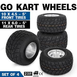 Go-Kart-Wheels-Go-Kart-Rain-Tires-Set-of-4-Rim-amp-Tyre-Set-3-holes-Buggy