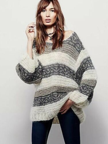 Pullover People Jordan Demoiselles Mes a Free Oversized 1 righe metallizzate Mohair UA76wq7