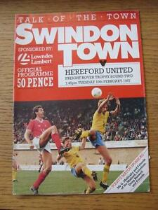 10021987 Swindon Town v Hereford United Freight Rover Trophy   Any faults w - <span itemprop=availableAtOrFrom>Birmingham, United Kingdom</span> - Returns accepted within 30 days after the item is delivered, if goods not as described. Buyer assumes responibilty for return proof of postage and costs. Most purchases from business s - Birmingham, United Kingdom