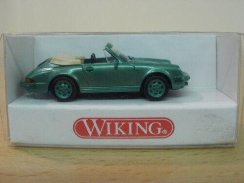 Porsche 911 Cabriolet,grünmet.,1:87,WIKING,ovp,1620114
