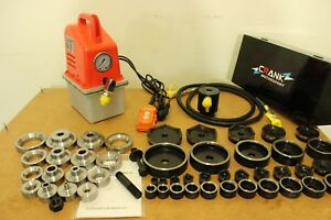 "52 Pcs Dimple die + Electric Hydraulic kit. 16 - 114mm cut, 1/2-2-1/2"" in TAPPER"