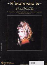 MADONNA 1985 Sheet Music DRESS YOU UP  #5 BILLBOARD HOT 100; #3 HOT DANCE