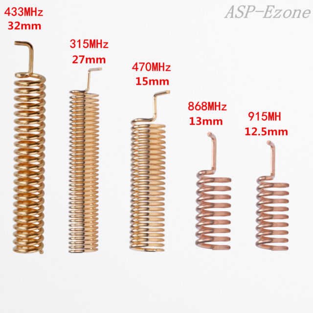 10pcs Helical Antenna 315MHz 470MHz 868MHz 433MHz 915MHz for Remote Control