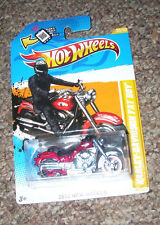 Hot Wheels HARLEY-DAVIDSON FAT BOY (red) 30/267 2012 HW NEW MODELS Mattel