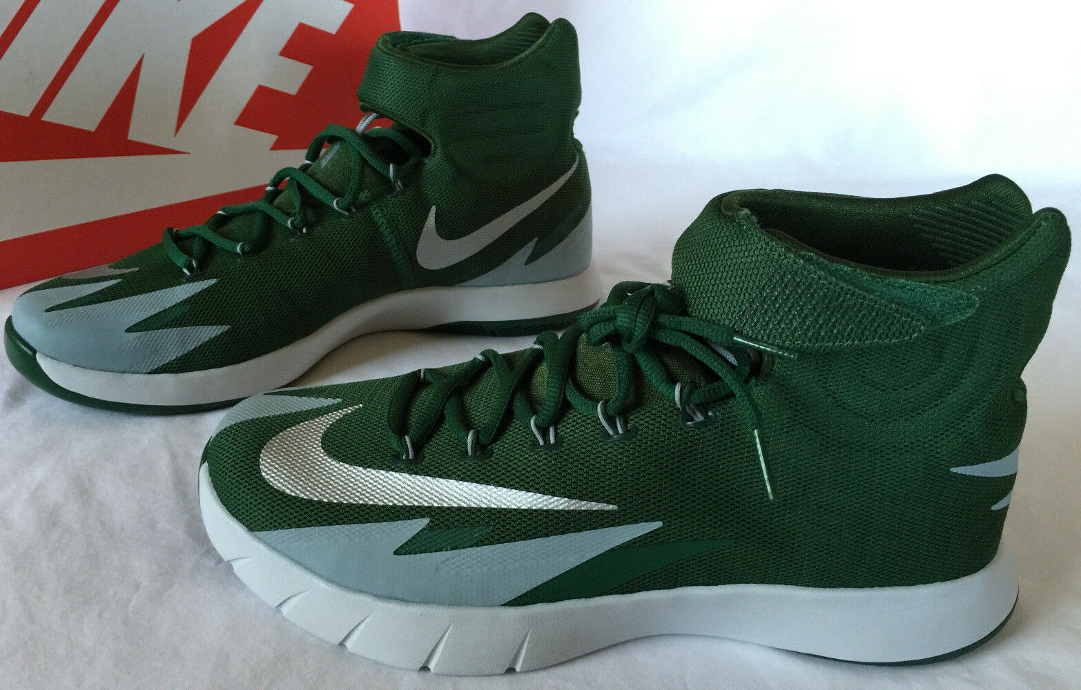 0a163ac95f9 Nike Zoom Hyperrev Kyrie Erving 643301-300 Green Basketball Shoes ...