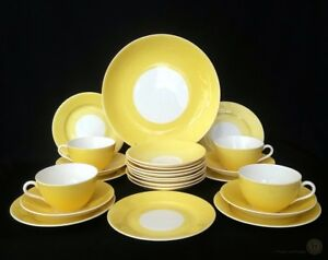 RARE-Antique-Aynsley-Cups-Saucers-And-Plates-Yellow-c1905-FREE-Delivery-UK