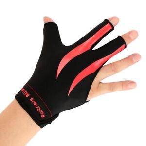 Comfort-Three-Finger-Right-Hand-Snooker-Pool-Cue-Billiard-Gloves-Red-Black