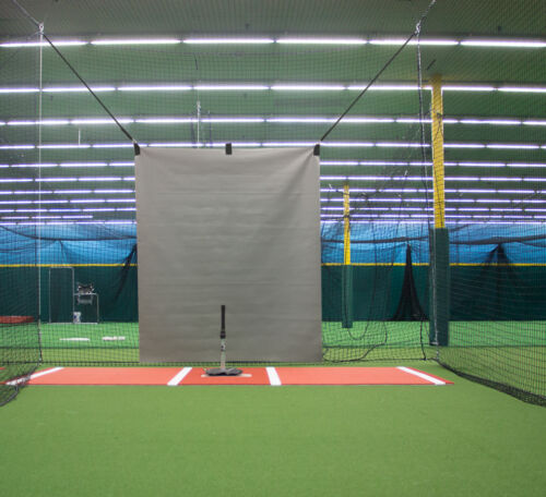 5/' x 6/'  Heavy Duty Vinyl Baseball Batting Cage Backstop GRAY GBCC™