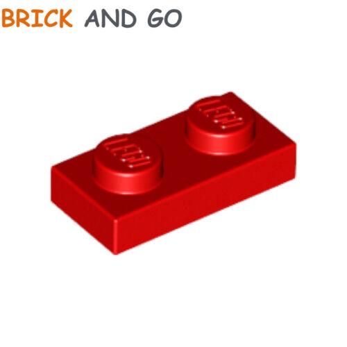 Bright Rosso 10 x lego 3023 Piastra Rosso Nuovo New Piatta 1x2
