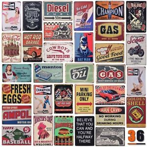 Details About Vintage Metal Tin Sign Bar Coffee Home Retro Cafe Wall Decor Iron Art Poster