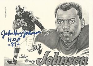 John Henry Johnson Autographed Larry Weber Lithograph Print PSA/DNA #W52352