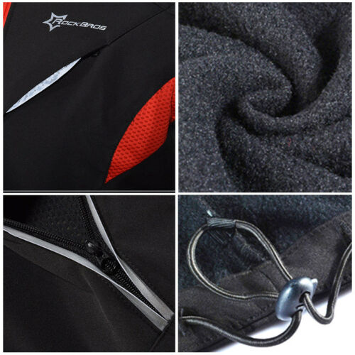 ROCKBROS Cycling Winter Jacket Fleece Thermal Warm Windproof /& Water-Resistant