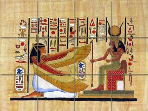 Art Mural Ceramic Ancient Egypt Backsplash Tile #295 | eBay