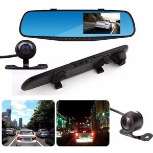 New-1080P-HD-Car-Dash-Camera-Dual-Cam-Vehicle-Front-Rear-DVR-Lens-Video-Recorder