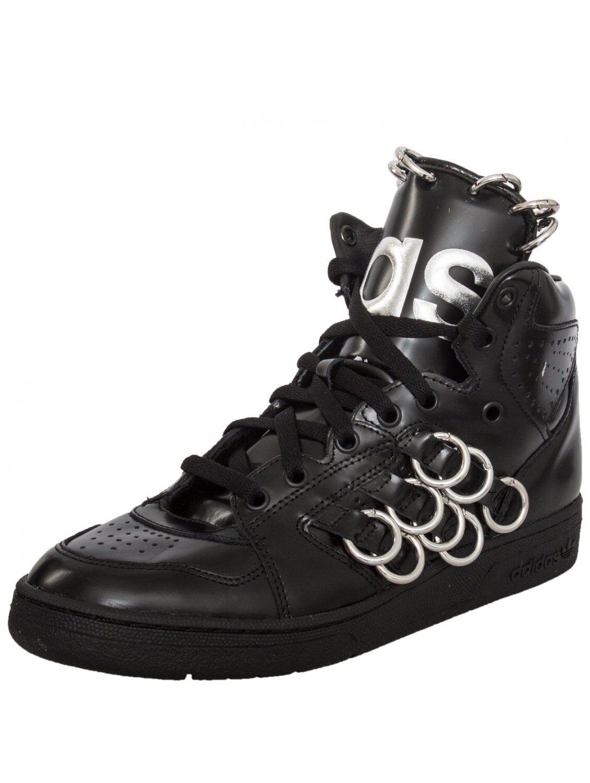 Adidas Originals Jeremy Scott Black Leather Instinct Hi Ring Shoes B26033 New